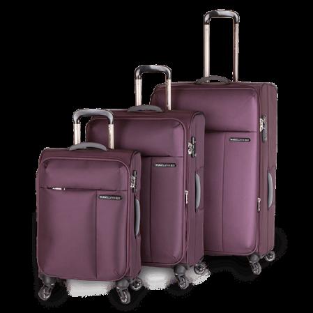 Paklite Slide Safe luggage set Deep Purple